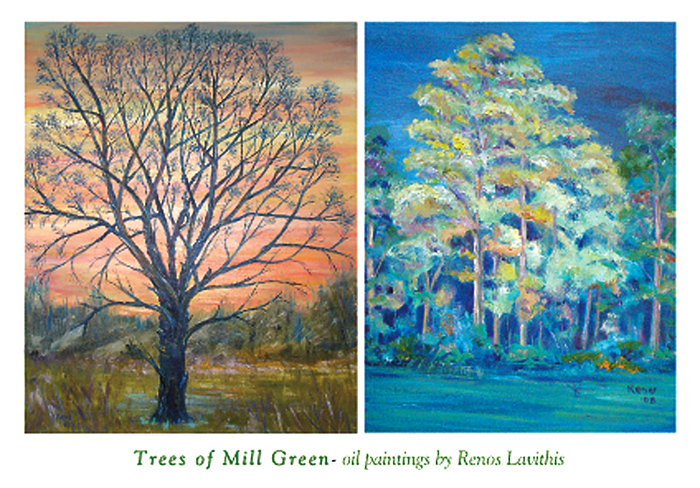 Greeting cards christmas cards post cards golf post card works based from the artist golf club trees m4hsunfo