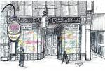 El Vino wine bar -B [ ink and colour wash- A4 size, original available ]