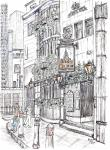 St Brides Tavern- C [ pencil, ink and wash - A4 size, original available ]