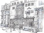 St Brides Tavern- A [ pencil, ink & wash - A4 size, original available ]
