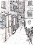 Ye Olde Cheshire Cheese- A [ pencil, ink & wash, A4 size, original available ]
