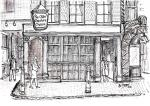 Ye Olde Cheshire Cheese- C [ pencil, ink, wash - A4 size, original available ]