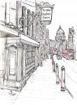 Ye Olde Cheshire Cheese- Fleet Steet view [ pencil, ink & wash, A4 plus, original NOT available - Limited edition prints on A4 and A3 sizes including mounting, ready to send  ]