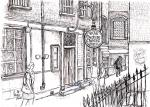 Ye Olde Cheshire Cheese- D [ pencil, ink & wash - A4 size, original available ]