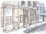 Ye Olde Cheshire Cheese- B [ pencil, ink, pen, wash - A4+ , original available ]