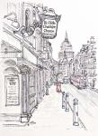 Ye Olde Chrshire Cheese- Fleet Street - A [ ink & wash - A4 + , original NOT available - Prints available from Saatchi On Line gallery – see HOME page  NOT A ]