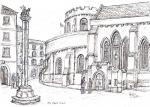Temple Church in Middle Temple [ ink on paper- A4 size, original available ]