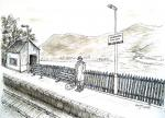 Waiting for the train [ pen and ink with wash - A4 size, original available ]