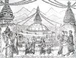 Wheel of Prayers round the Stupa- Nepal [ Etching- Only 3 limited edition etchings available ]