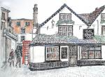The Boot Inn, St Albans [ pen and ink with wash - A4 size, original available ]