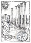 Salamis Kingdom, Impression [ pencil, pen and ink with wash - A4 size, original available ]