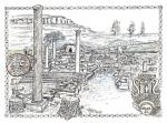 Amathus Ancient Site, Impression [ pen and ink with wash - A4 size, original available ]