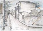 Nicosia Old Quarters [ pencil, pen and ink with wash - A3 size, original available ]