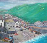 Port Isaac, Cornwall [ oil on canvas - For a family who had many summer memories in the place. ]