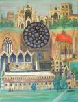 St. Albans Cathedral montage impression [ oil on canvas ]
