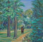 Hampstead Heath romance [ oil on canvas board ]