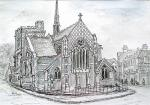 St John the Baptist,  High Barnet [ pencil and ink - A4 size, original avaialble ]