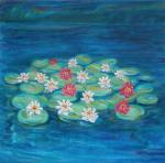 Water Lilies at Mill Green -a [ oil on canvas ]