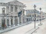 Institute of Directors- Pall Mall [ Ink and wash on paper- A3 size,  private collection ]