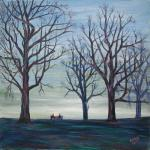 Winter at Hampstead Heath [ oil on canvas board ]