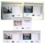 A5 size desk calendar [ For private client use, samples of pages ]