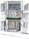 Old Bell in Fleet Street [ pencil, ink & wash - A4+, original available ]