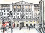 The Bank of England [ Ink, pencil and wash on paper Private Collection ]
