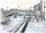 Southwark Bridge [ pencil, ink and wash - A3 size, original available ]
