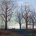 Winter at Hampstead Heath [ oil on canvas board